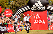 Oak Valley ( Elgin / Grabouw ), SOUTH AFRICA - Stage 7 winners, Lukas and Mathias Fluckiger win the final stage stage seven , 7 , of the Absa Cape Epic Mountain Bike Stage Race between Oak Valley ( Elgin / Grabouw ) and Lourensford on the 28 March 2009 in the Western Cape, South Africa..Photo by Karin Schermbrucker  /SPORTZPICS