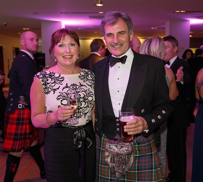 BNO Maggie's Spring Ball at Radisson Hotel Glasgow. L to R :  Aileen Cameron and Douglas Kinnaird. Picture Robert Perry for The Herald and  Evening Times 23rd April 2016<br /> <br /> Must credit photo to Robert Perry<br /> <br /> FEE PAYABLE FOR REPRO USE<br /> FEE PAYABLE FOR ALL INTERNET USE<br /> www.robertperry.co.uk<br /> NB -This image is not to be distributed without the prior consent of the copyright holder.<br /> in using this image you agree to abide by terms and conditions as stated in this caption.<br /> All monies payable to Robert Perry<br /> <br /> (PLEASE DO NOT REMOVE THIS CAPTION)<br /> This image is intended for Editorial use (e.g. news). Any commercial or promotional use requires additional clearance. <br /> Copyright 2016 All rights protected.<br /> first use only<br /> contact details<br /> Robert Perry     <br /> 07702 631 477<br /> robertperryphotos@gmail.com<br />         <br /> Robert Perry reserves the right to pursue unauthorised use of this image . If you violate my intellectual property you may be liable for  damages, loss of income, and profits you derive from the use of this image.