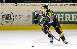 18.09.2015, Messestadion, Dornbirn, AUT, EBEL, Dornbirner Eishockey Club vs EC Red Bull Salzburg, 3. Runde, im Bild Chris D'Alvise, (Dornbirner Eishockey Club) // during the Erste Bank Icehockey League 3rd round match between Dornbirner Eishockey Club vs EC Red Bull Salzburg at the Messestadion in Dornbirn, Austria on 2015/09/18. EXPA Pictures © 2015, PhotoCredit: EXPA/ Peter Rinderer
