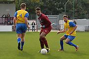 Croydon Athletic striker Louis Blake turns with the ball during the Southern Counties East match between AFC Croydon Athletic and Hollands & Blair at the Mayfield Stadium, Croydon, United Kingdom on 10 October 2015. Photo by Mark Davies.