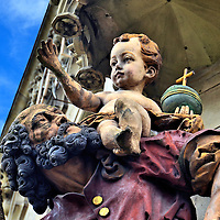 Saint Simeon Statue with Christ Child in Trier, Germany <br />