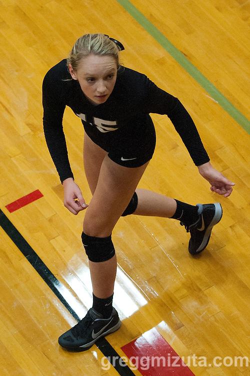 Preslee Jensen at the Kuna Klassic volleyball tournament at Kuna High School, Kuna, Idaho, August 29, 2015.