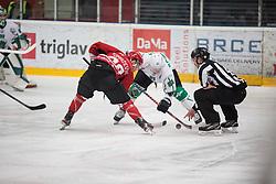 Alps League Ice Hockey match between HDD SIJ Jesenice and HK SZ Olimpija on December 20, 2019 in Ice Arena Podmezakla, Jesenice, Slovenia. Photo by Peter Podobnik / Sportida