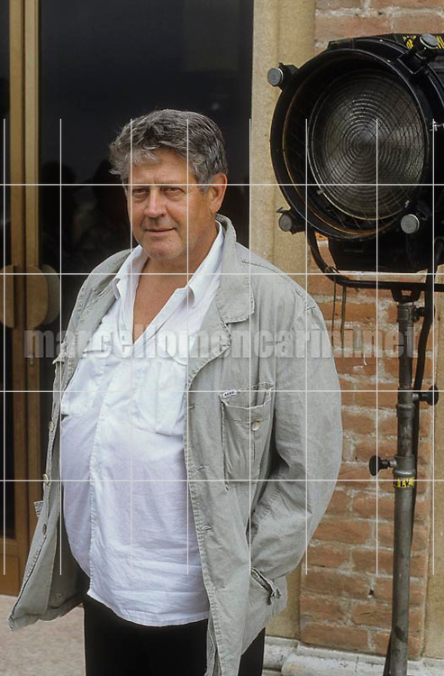 Venice Lido, Venice Film Festival about 1985. Illustrator, cartoonist and creator of Corto Maltese Hugo Pratt / Lido di Venezia, Mostra del Cinema di Venezia 1985 circa. Hugo Pratt, fumettista e illustratore autore di Corto Maltese  - © Marcello Mencarini