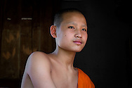 Somsy (15) lives at Mounna Wat, a small buddhist monastery in Luang Prabang, Laos. He's not planning to become a fulltime monk in the future.