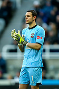 Alex McCarthy (#1) of Southampton during the Premier League match between Newcastle United and Southampton at St. James's Park, Newcastle, England on 8 December 2019.