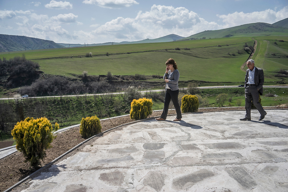 KARASHEN, ARMENIA - APRIL 17:  People stop at a gas station and take in the view on February 21, 2015 in Karashen, Armenia. Since signing a ceasefire in a war with Azerbaijan in 1994, Nagorno-Karabakh has functioned as a de facto part of Armenia, with hostilities along the line of contact between Nagorno-Karabakh and Azerbaijan occasionally flaring up and causing casualties. (Photo by Brendan Hoffman/Getty Images) *** Local Caption ***