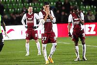 Deception Metz - Jose luis PALOMINO - 20.12.2014 - Metz / Monaco - 17eme journee de Ligue 1 -<br />Photo : Fred Marvaux / Icon Sport