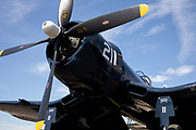 F4U-7 Corsair of the Erickson Aircraft Collection painted to honor Jesse Leroy Owens.