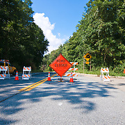 Maryland Route 222 into Port Deposit still remains closed as some area remain flooded Saturday, Sept. 10, 2011 in Port Deposit, Md as flooding from the Susquehanna River continues. (AP Photo/Saquan Stimpson)