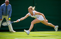 LONDON, ENGLAND - Monday, June 21, 2010: Kim Clijsters (BEL) during the Ladies' Singles 1st Round on day one of the Wimbledon Lawn Tennis Championships at the All England Lawn Tennis and Croquet Club. (Pic by David Rawcliffe/Propaganda)
