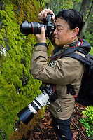 Nature photographer Mr Chen Jianwei, President of Wild Wonders of Europe Foundation, Tangjiahe National Nature Reserve, NNR, Qingchuan County, Sichuan province, China