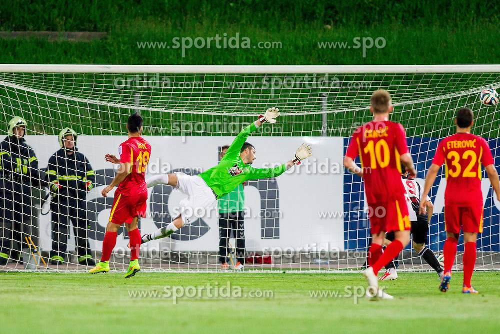 Matjaz Rozman #22 of Rudar during football match between NK Rudar Velenje and KF Laci (Albania) in 1st Round of UEFA Europa League Qualifications on July 3, 2014 in Arena Petrol, Celje, Slovenia. Photo By Vid Ponikvar / Sportida