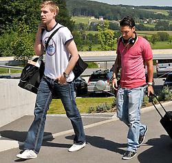 02.08.2010, Hotel Falkenberg, Bad Waltersdorf, AUT, Trainingslager Werder Bremen 1. FBL 2010 - Day05 - Ankunft der Bremer WM Spieler im Trainingscamp um 15.00 Uhr,  im Bild Mesut Özil / Oezil ( Werder #11 ) Per Mertesacker ( Werder #29 ) EXPA Pictures © 2010, PhotoCredit: EXPA/ nph/  Kokenge,+++++ ATTENTION - OUT OF GER +++++ / SPORTIDA PHOTO AGENCY