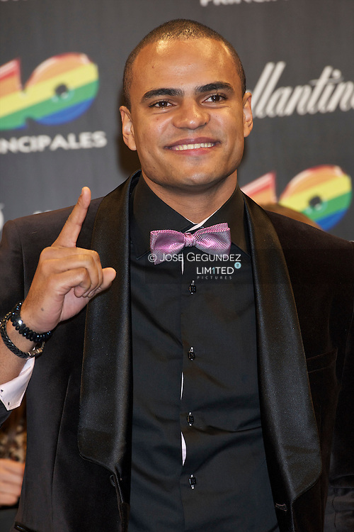 Mohombi attends '40 Principales Awards 2011' photocall at Palacio de los Deportes on December 9, 2011 in Madrid, Spain.