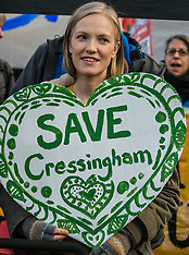 2 Dec 2017 - Cressingham Gardens residents march to demand a ballot.