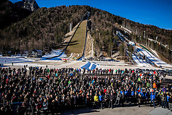 Spectators at official opening of the new Nordic centre Planica, on December 11, 2015 in Planica, Slovenia. Photo by Vid Ponikvar / Sportida