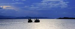 July 21, 2019 - Fishing Boats On Kenmare Bay, Beara Peninsula, Kerry, Ireland, Europe (Credit Image: © Peter Zoeller/Design Pics via ZUMA Wire)