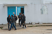 Sejenane is an example of a  Tunisian town that is in the grip of violent Salafis who rule here since April 2011. <br /> Salafi in front of the mosque, the Salafi have expelled the former Imman and installed a young Imman of 22 years old.<br /> <br /> <br /> Sejenane est sous l'emprise des  Salafistes violents qui y font la loi et y ont install&eacute; un r&eacute;gime de terreur depuis avril 2011. .Salafiste devant la mosqu&eacute;e, les salafistes ont chass&eacute; l'ancien Imman et install&eacute; un jeune imman salafiste de 22 ans.