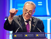 Senator Charles Schumer speaking during the Human Rights Campaign New York City Gala 2013 on February 2, 2013 at the Waldorf Astoria Hotel.