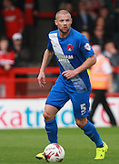 Leyton Orient defender Alan Dunne looks for an opening during the Sky Bet League 2 match between Crawley Town and Leyton Orient at the Checkatrade.com Stadium, Crawley, England on 10 October 2015. Photo by Bennett Dean.