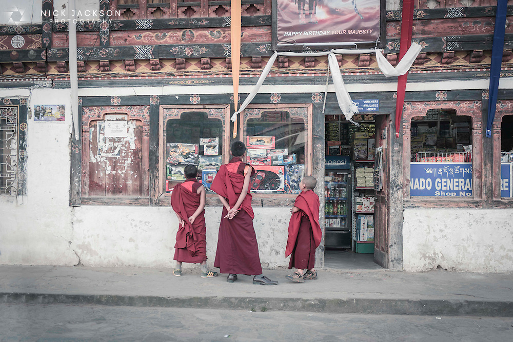 Although training to become a monk can begin very early in life, the childhood desire for toys still remains