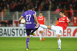30.01.2016, Stadion An der Alten Foersterei, Berlin, GER, 1. FC Union Berlin vs SV Austria Salzburg, Testspiel, im Bild Max Mueller (#27, SV Austria Salzburg), Steven Skrzybski (#24, 1. FC Union Berlin), // during a preperation Football Match between 1. FC Union Berlin vs SV Austria Salzburg at the Stadion An der Alten Foersterei in Berlin, Germany on 2016/01/30. EXPA Pictures © 2016, PhotoCredit: EXPA/ Eibner-Pressefoto/ Hundt<br /> <br /> *****ATTENTION - OUT of GER*****