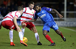 Anthony Grant of Peterborough United takes on the Doncaster Rovers defence - Mandatory by-line: Joe Dent/JMP - 01/01/2018 - FOOTBALL - ABAX Stadium - Peterborough, England - Peterborough United v Doncaster Rovers - Sky Bet League One