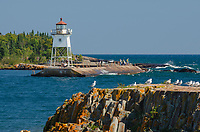 Grand Marais Lighthouse on North Shore of Lake Superior. Grand Marais, Minnesota