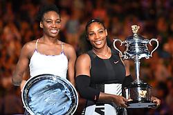 January 28, 2017 - Melbourne, AUSTRALIA - Serena Williams (USA) def Venus Williams  (Credit Image: © Panoramic via ZUMA Press)