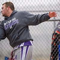 Miyamura Patriot Kyle Keeler throws for 117 feet and 6 inches in the discus Saturday at Zuni High School.