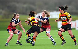 Lageretabua of Richmond Womenis challenged by Clea Fawcett of Bristol Bears Women - Mandatory by-line: Nizaam Jones/JMP - 23/03/2019 - RUGBY - Shaftesbury Park - Bristol, England - Bristol Bears Women v Richmond Women- Tyrrells Premier 15s