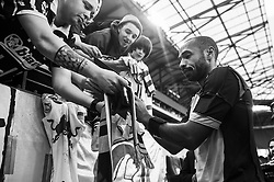 HARRISON, NJ - MARCH 30: Thierry Henry #14 of New York Red Bulls signs autographs after the game between the New York Red Bulls and the Philadelphia Union at Red Bulls Arena on March 30, 2013. (Photo By: Rob Tringali)