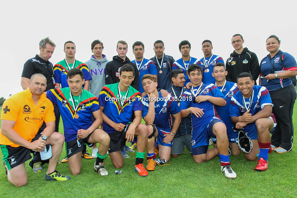Tournament select team.  National 15s Rugby League Tournament - Day 5 , 4 October 2013. Photo: David Joseph / photosport.co.nz