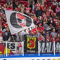 2019-09-21 | Malmö, Sweden: Malmö Redhawks fans during the game between Malmö Redhawks and Luleå HF at Malmö Arena ( Photo by: Roger Linde | Swe Press Photo )<br /> <br /> Keywords: Malmö Arena, Malmö, Icehockey, SHL, Malmö Redhawks, Luleå HF, ml190921