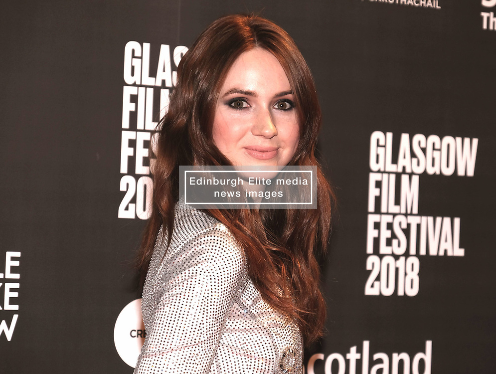 """Glasgow Film Festival 2018<br /> <br /> The World Premiere of """"THE PARTY'S JUST BEGINNING"""" was attended by actor/director Karen Gillan<br /> <br /> Alex Todd 