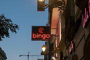 Bingo neon sign Photographed in Madrid, Spain