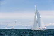 12 Meter Class Columbia racing at the Opera House Cup regatta