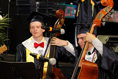 Orchestra seniors perform during the 29th annual Kettering Fairmont High School commencement at the Nutter Center in Fairborn, Thursday, May 31, 2012.