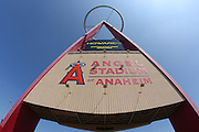 ANAHEIM, CA - MAY 14:  The big A looms over the parking lot at the Los Angeles Angels of Anaheim game against the Boston Red Sox at Angel Stadium in Anaheim, California on Thursday, May 14, 2009.  The Angels defeated the Red Sox 5-4 in 12 innings.  (Photo by Paul Spinelli/MLB Photos)