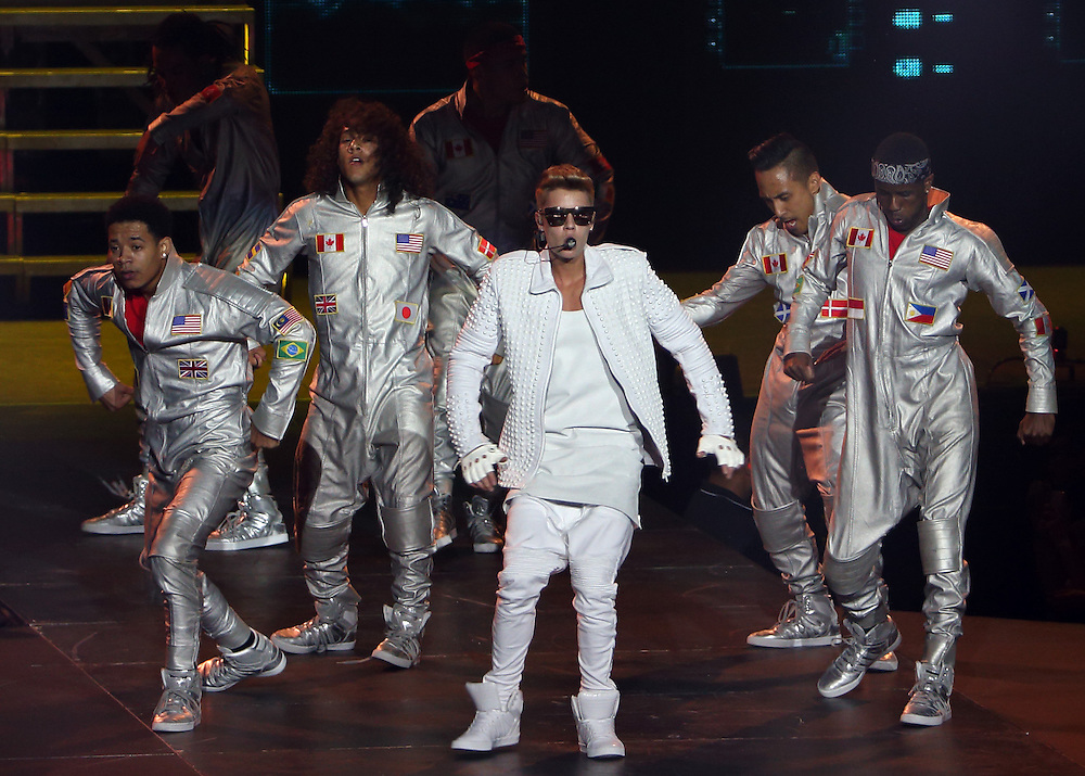 Pop singer Justin Bieber performs live in concert on his Believe tour, Vector Arena,  Auckland, New Zealand, Saturday, November 23, 2013.  Credit:SNPA / David Rowland