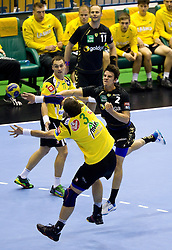 Andy Schmid (#2) of RNL during Velux EHL Champions league 2010/2011 Group A men handball match between HC Celje Pivovarna Lasko of Slovenia and Rhein-Neckar Loewen of Germany, on October 2, 2010 in Arena Zlatorog, Celje, Slovenia. Rhein-Neckar Löwen defeated Celje Pivovarna Lasko 32 - 28. (Photo By Vid Ponikvar / Sportida.com)