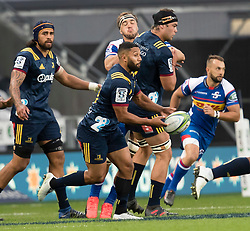 Highlanders' Lima Sopoaga passes the ball against the Stormers in the Super Rugby match, Forsyth Barr Stadium, Dunedin, New Zealand, Friday, March 9, 2018. Credit:SNPA / Adam Binns ** NO ARCHIVING**