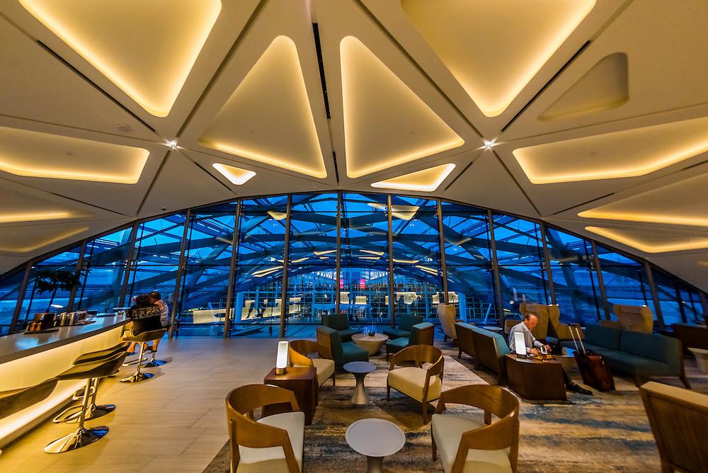 Bar in the lobby of the Westin Denver International Airport Hotel, Denver, Colorado USA.