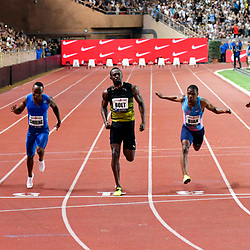 Usain Bolt of Jamaica competes in 100m during the IAAF Diamond League Meeting Herculis on July 21, 2017 in Monaco, Monaco. (Photo by Pascal Della Zuana/Icon Sport)