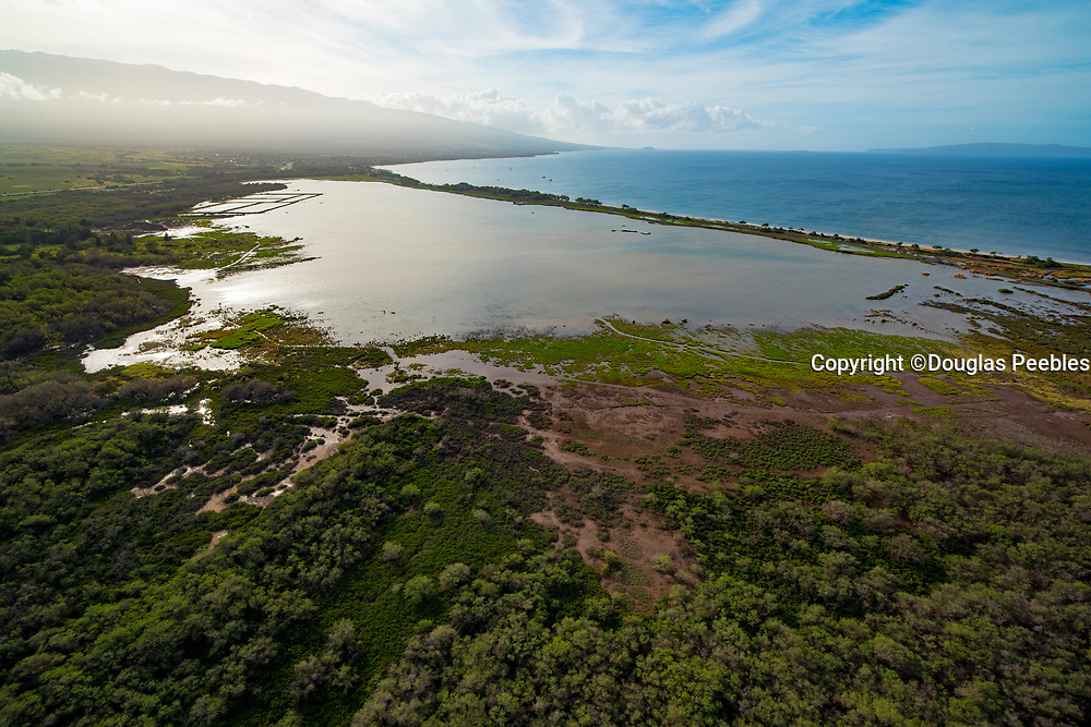 Aerial, Kealia Pond National Wildlife Refuge,  Maui, Hawaii