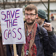 10 Dec 2015 - Rally after overnight student occupation against cuts at London Met University.