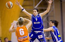 Nika Baric (9) of Celje at finals match of Slovenian 1st Women league between KK Hit Kranjska Gora and ZKK Merkur Celje, on May 14, 2009, in Arena Vitranc, Kranjska Gora, Slovenia. Merkur Celje won the third time and became Slovenian National Champion. (Photo by Vid Ponikvar / Sportida)