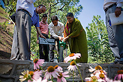 Dr. Vandana Shiva plants a plant in a University in Solan, Himachal Pradesh, India, on 7th September 2009...Dr. Vandana Shiva, the founder of Navdanya Foundation and Bijavidyapeeth, is a physicist turned environmentalist who campaigns against genetically modified food and teaches farmers to rely on indigenous farming methods.. .Photo by Suzanne Lee / For The National