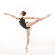 Rebecca Kelley in first arabesque.